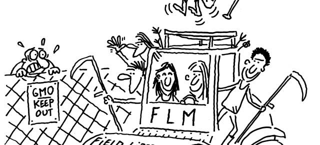 The activists of the Field Liberation Movement  ask the ILVO to spend their compensation on truly inclusive and sustainable agriculture without patents, pesticides, or GMOs.Aardappel-activisten vragen ILVO om de betaalde schadevergoeding te besteden aan een écht solidaire en duurzame landbouw zónder patenten, pesticiden en GGO's. Les militant-e-s  du  Mouvement de Libération des Champs demandent à l'ILVO de consacrer l'indemnisation versée à une agriculture véritablement solidaire et durable sans brevets,  pesticides ni OGM.